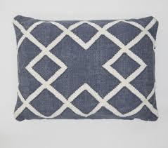 navy juno handwoven outdoor indoor cushions 60 x 40