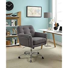 stylish office chairs for home. Serta Style Ashland Home Office Chair, Twill Fabric, Gray Stylish Chairs For S