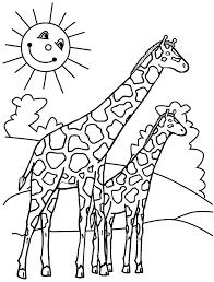 Giraffe Coloring Pages Viettiinfo