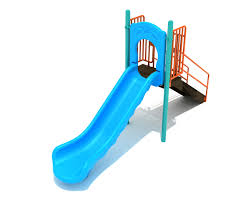 Swirly Slides 4 Feet Straight Single Piece Free Standing Slide