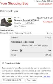 cotswold outdoor code