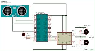 raspberry pi based obstacle avoiding robot using ultrasonic sensor raspberry pi obstacle avoiding robot circuit diagram