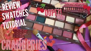 i heart revolution cranberries chocolate palette review hollife