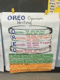 Oreo Opinion Writing My Own Classroom Anchor Charts