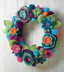 Crochet Decoration Patterns Crochet Flower Wreath Free Crochet Pattern Crochet Kingdom