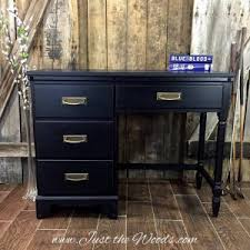 distressed blue furniture. Black-distressed-painted-furniture, Thin Blue Line, Painted Desk, Black Distressed Furniture