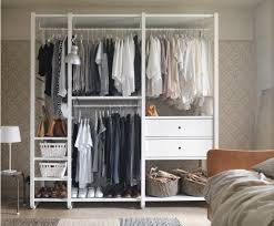 ikea storage furniture. a white open storage with clothes rails shelves and drawers ikea furniture