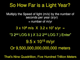 How Long Is 5 Light Years Ppt How Far Is A Light Year Powerpoint Presentation Free