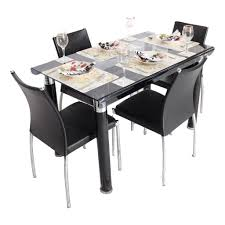 dining table 4 seater india 7 bent glass top set woodys furniture