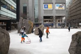 toronto s ice skating rinks a photo essay  casual skating hockey here is not allowed in the daytime but since the place is not fenced or guarded and is well lit the street lamps