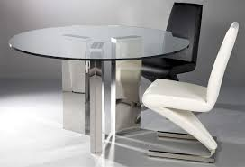 modern dining tables dinette furniture round tempered glass table with