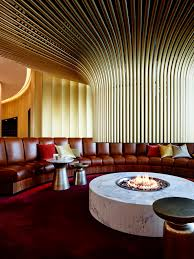 the canberra airport hotel s signature round curving theme architecture ceiling interior design