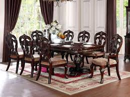 peaceful design dining table with 8 chairs 23