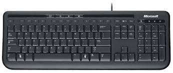 <b>Клавиатура Microsoft Wired</b> Keyboard 600 Black USB — купить по ...