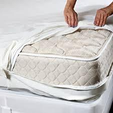 mattress encasement. inspecting mattress encasement l