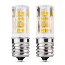 Appliance Light Bulb Microwave Lumenbasic E17 Led Bulb Dimmable Intermediate Base For Microwave Oven Appliance 40w Equivalent Light Bulb 120v T3 T4 4 5w Pack Of 2
