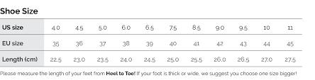Size Chart Kawasaki Badminton