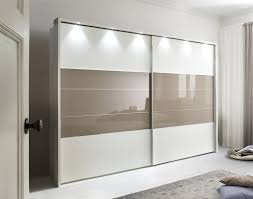 cream sliding wardrobe