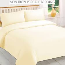 percale non iron cream duvet cover ed flat valance sheets