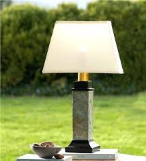 battery table lamp battery table lamps battery powered outdoor lights with regard to slate table lamp