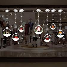 Sayla Weihnachten Deko Weihnachten Aufkleber Schneeflocken