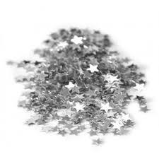 Fête confettis de table étoile argent 14 gr - Magasin Tout pour la ...