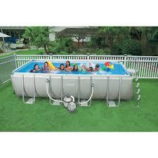 Intex 18 x 9 x 52 Ultra Frame Rectangular Swimming Pool Sears