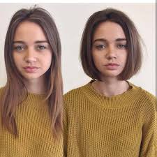 This article with cool pictures will help you. 110 Before After Short Hair Photos Long To Short Hair Transformations