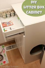 Decorative Cat Litter Box Covers DIY Litter Box Furniture Cabinet Laundry Room Cleanup 63