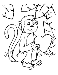 Late Free Printable Monkey Coloring Pages For Kids That Coloring