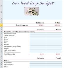 Budget Plan Excel Wedding Budget Planner Template For Excel