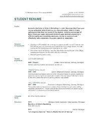 Resumes Examples For Students Beauteous Sample College Grad Resume Example Of College Resumes College