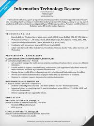 information technology (IT) resume sample