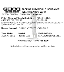 How automobile insurance in florida differs from other states. Car Insurance Card Page 4 Line 17qq Com