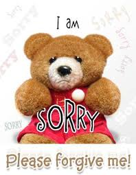 teddy bear i am sorry please forgive me image