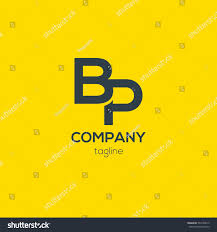 Yellow Logo Design B P Letter Logo Design Vector Stock Vector Royalty Free