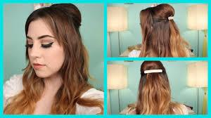 zooey deschanel inspired half up half down hair tutorial