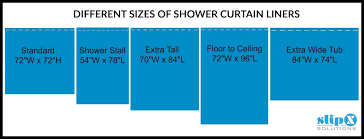 Shower Curtain Size Chart How Long Is A Standard Or Extra Long Shower Curtain Liner Guide