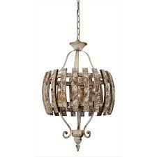 weathered 3 light pendant chandelier ina