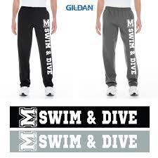 Gildan Open Bottom Sweatpants Size Chart Marshfield High Swimming Gildan Adult Heavy Blend Adult 8