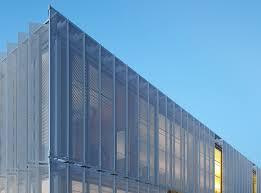 perforated metal screen. Leawood Speculative Office, Kansas City ,office Building, Perforated Metal Screens, Minimize Solar Screen M