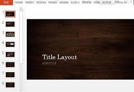 Wood Design Powerpoint Templates