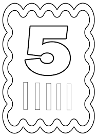 Imprimer Chiffres Et Formes Tous Les Chiffres Chiffre 5 Coloriage 5 L