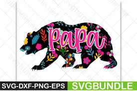 Millions of free graphic resources. Papa Bear Graphic By Designartstore Creative Fabrica
