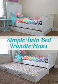 how to make a twin bed. Wonderful How Simple Twin Bed Trundle Plans This Is So Easy To Make Only Takes On How To Make A Twin Bed