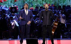 ball and boe together again. together, michael ball and alfie boe are an uplifting gimmick - london palladium, review together again