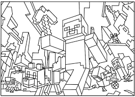 3d Minecraft Coloring Pages Print Coloring