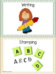 Literacy Center Pocket Chart Cards Editable