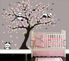 xevvfl sl unique panda wall decals for nursery