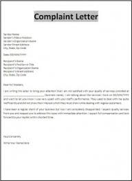 Letter Of Complaint To Employer Sample Templates